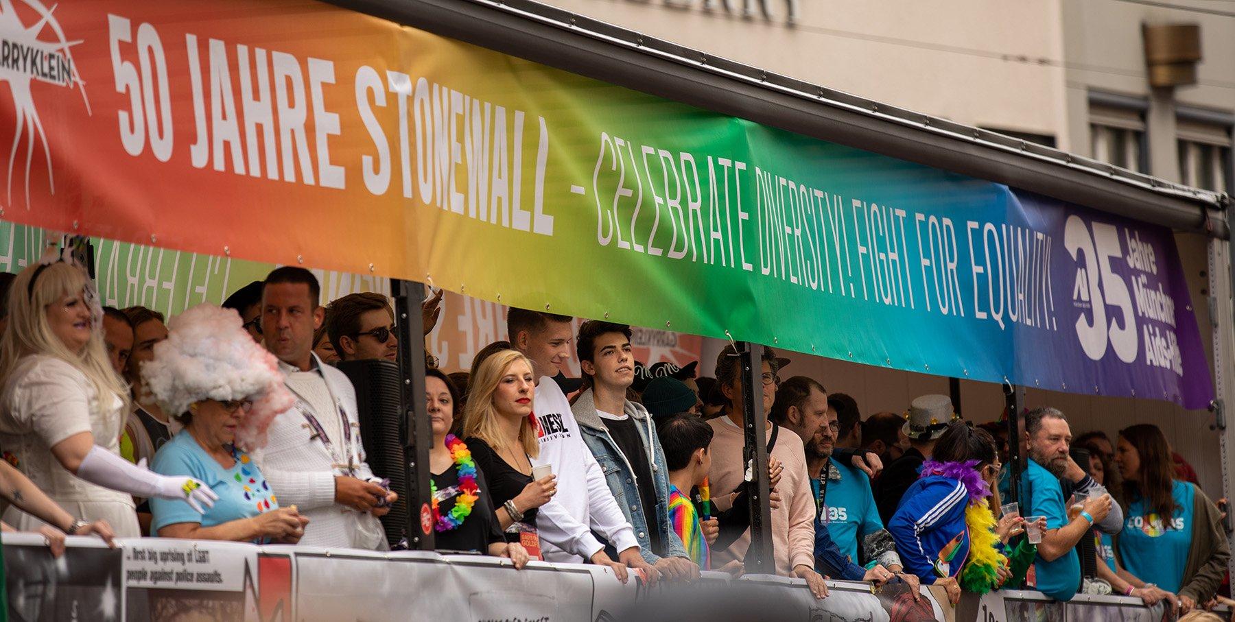 Gay Pride 50-vuotisjuhlat Münchenissä